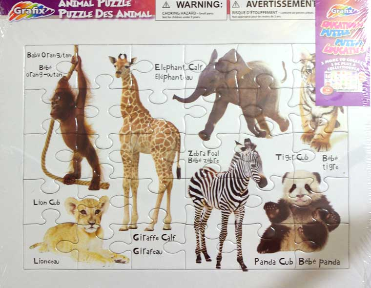 Zoo Animal Puzzle - Click Image to Close