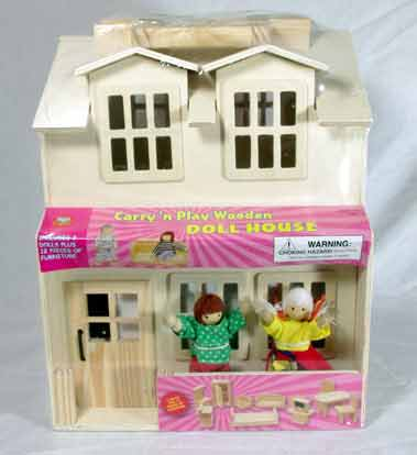 Carry N Play Wooden Dollhouse