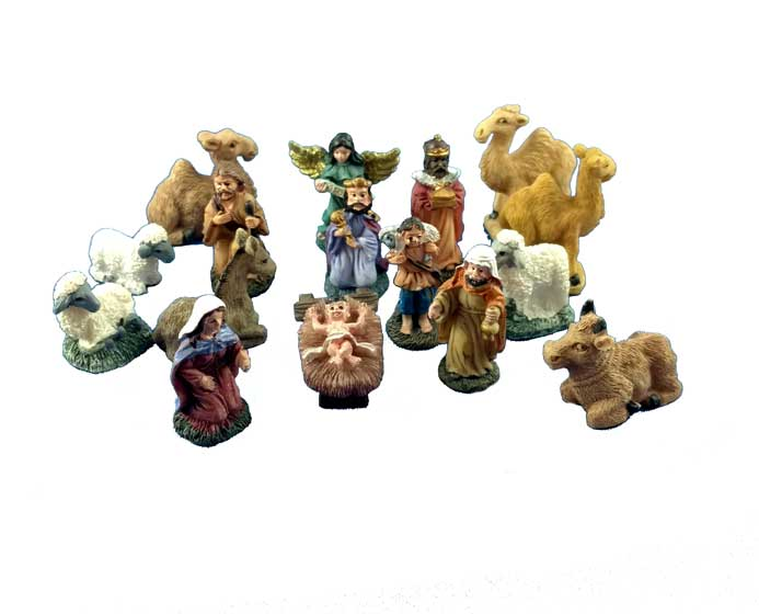 Miniature Nativity Scene